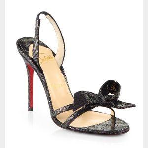 Christian Louboutin Grusanda Glitter Bow Sandals